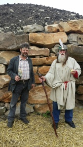 Tim Daw and Arch Druid of Avebury blessing  the Long Barrow